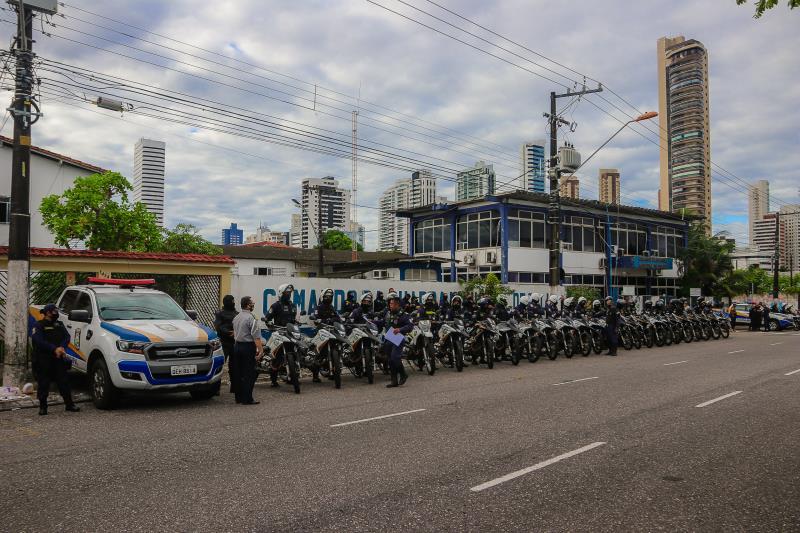 O grupamento Ronda da Capital passou de 30 guardas para 94 agentes da segurança municipal e de dez para 40 motocicletas