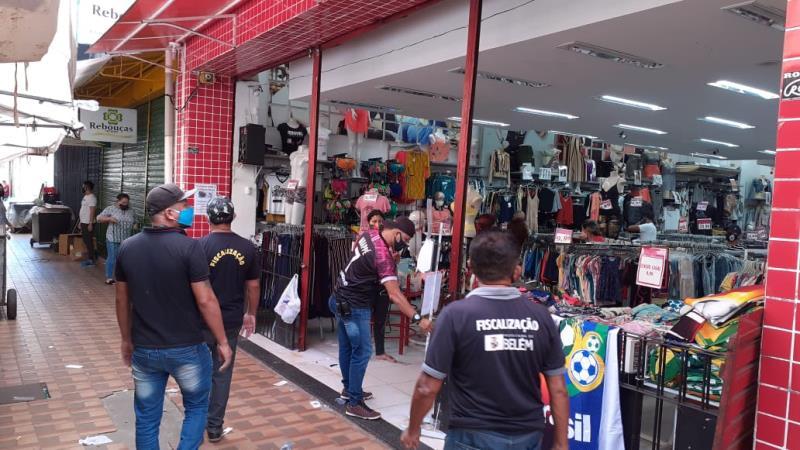Comitê de Segurança Municipal segue fiscalizando estabelecimentos em Belém.