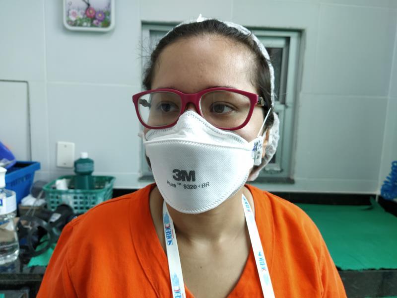 Barbara Amaral, enfermeira.