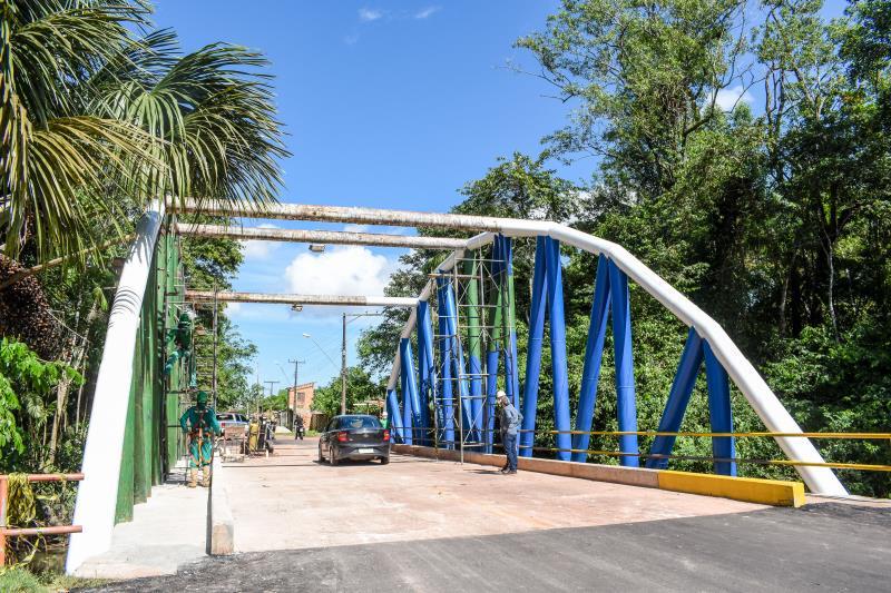 Em algumas áreas da ilha, as obras já estão em fase de conclusão.