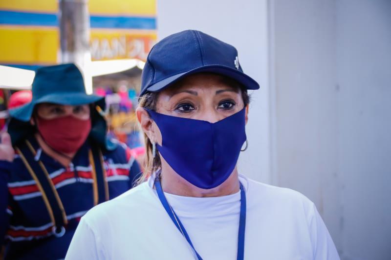 A coordenadora da Ordem Pública, Elizete Cardoso, pede mais conscientização das pessoas no combate à pandemia de Covid-19.