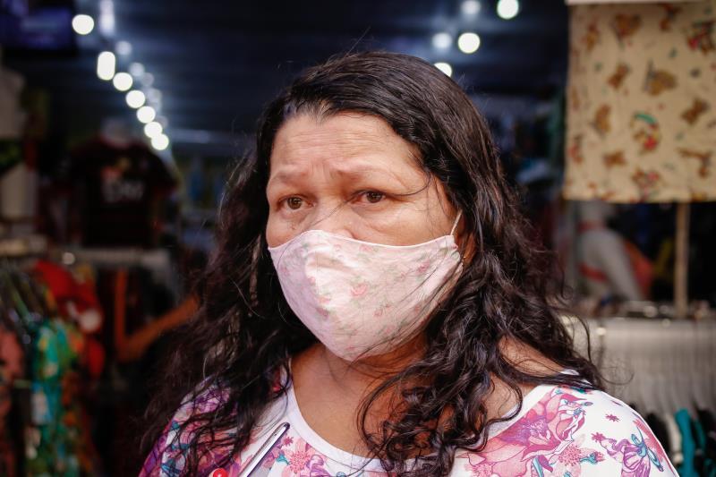 A dona de casa Ana Cristina Ferreira elogiou o trabalho da prefeitura de Belém no centro comercial.