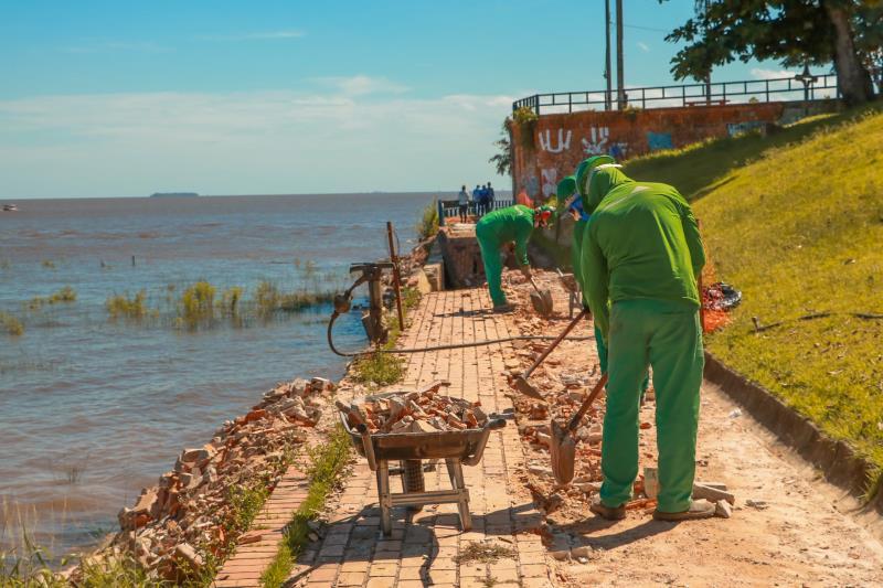 A obra resolverá os problemas no muro de contenção, com a recuperação da calçada ao longo dele e da rede de drenagem