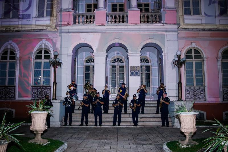 A Banda da Guarda Municipal de Belém participou da homenagem