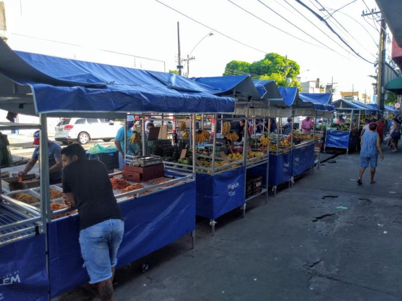 A feira do Telégrafo fica na avenida Senador Lemos