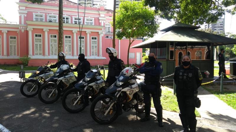 A ação de orientação também percorreu as praças centrais de Belém.