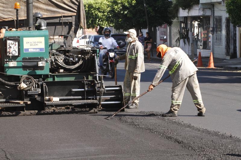 Prefeitura de Belém está realizando diversas obras de asfaltamento na cidade, incluindo a travessa Coronel Luis Bentes.