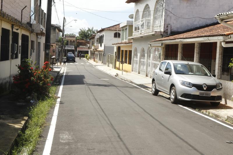 Rua do conjunto Roraima asfaltada.