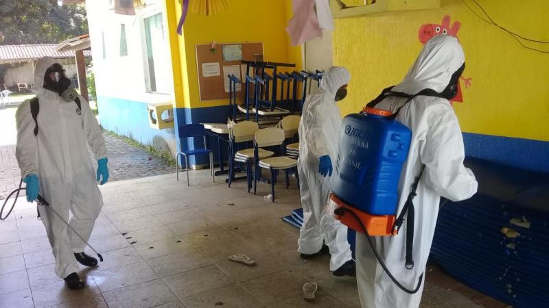 Unidades da assistência recebem ação de desinfecção.