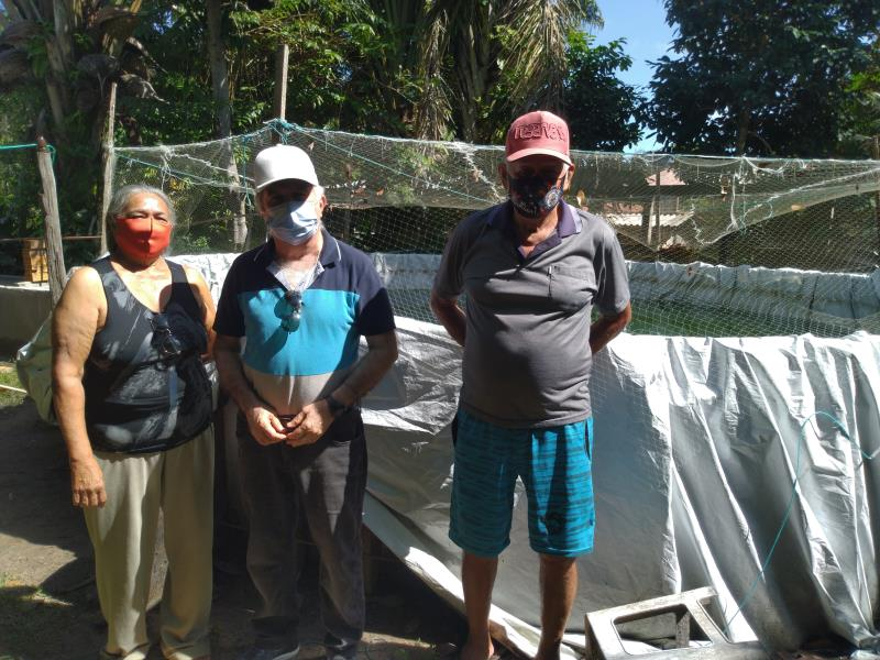 Secretário Municipal de Economia, Rosivaldo Batista, também acompanha de perto a evolução dos alevinos doados pela prefeitura aos produtores de Cotijuba.