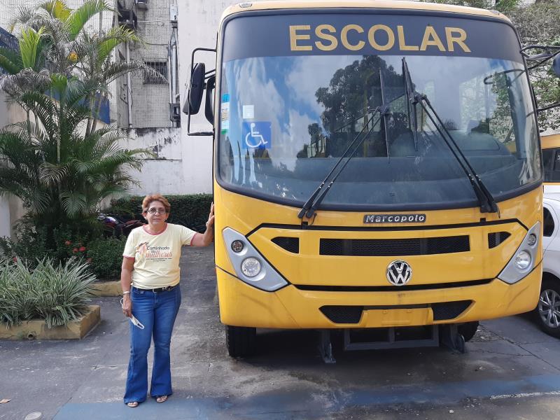 Silvana Araújo, motorista de transporte escolar da Semec