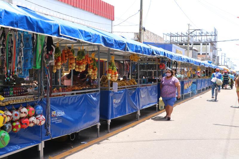 As feiras da Batista Campos, do Entroncamento, do Telégrafo, da 8 de Maio e da Campina já foram beneficiadas com os novos equipamentos