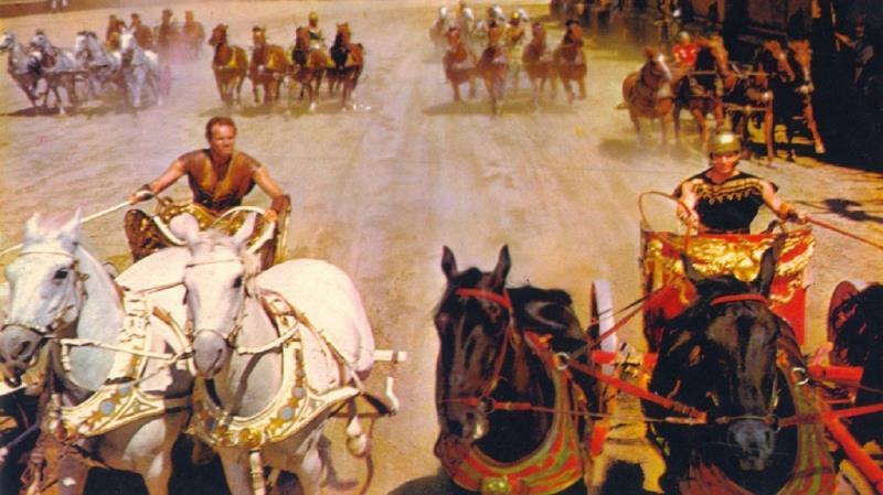 """O campeão de 11 Oscar, """"Ben Hur"""", é o quarto lugar"""