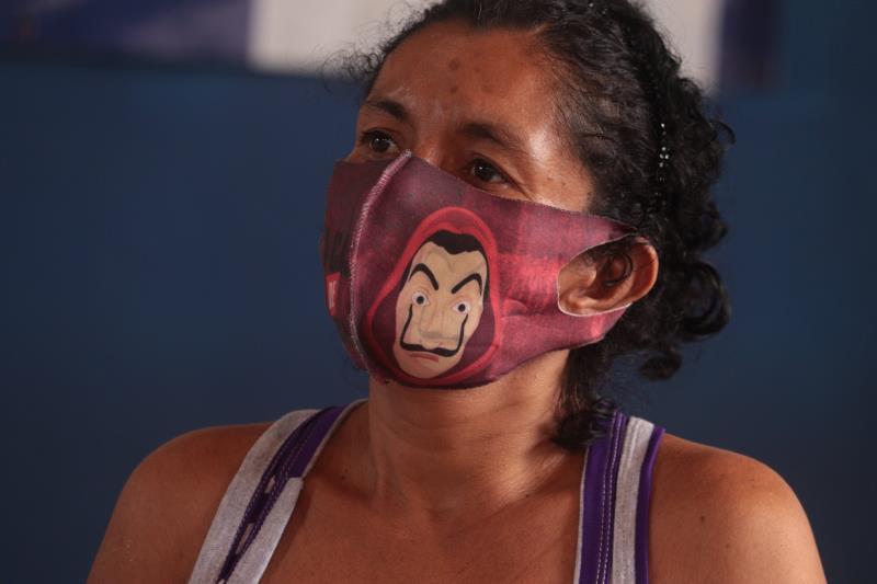 """Samira Chagas passou quatro meses no espaço e não pretende mais retornar para as ruas. """"Fui muito bem tratada aqui, recebi todos os cuidados médicos""""."""