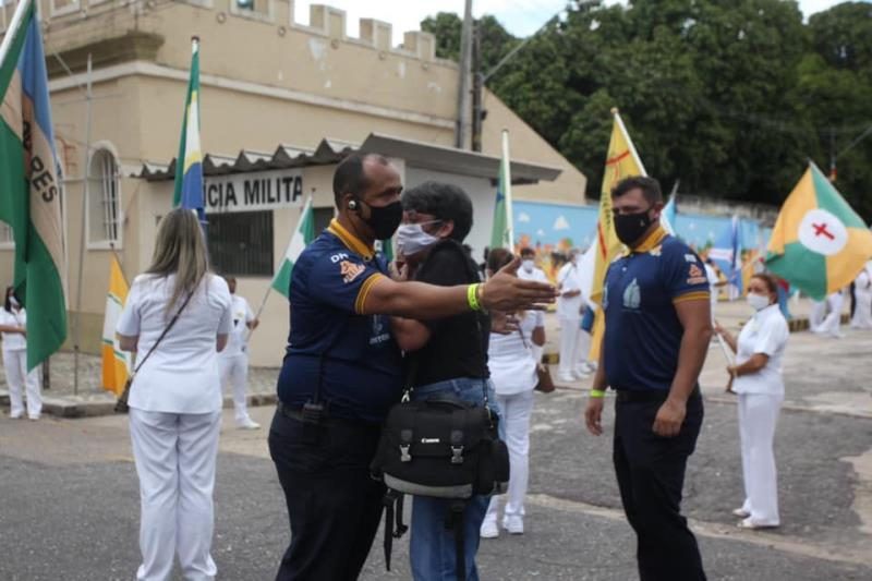 Guarda de Nazaré impediu a fotojornalista Camila Lima de passar