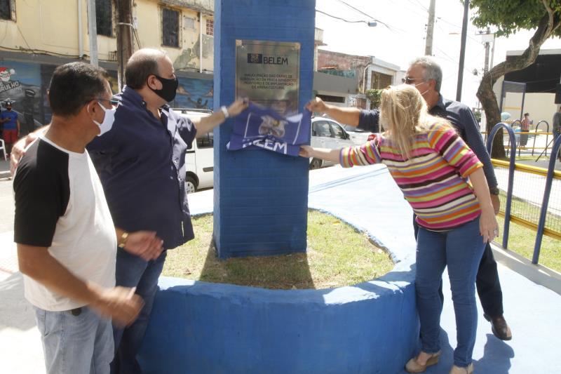 Bairro do Guamá recebe praça revitalizada com anfiteatro e espaço de lazer