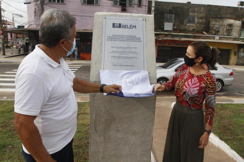 O prefeito Zenaldo Coutinho participou da entrega da obra.
