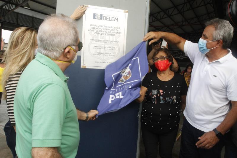 2020.12.31 - PA - Belém - Brasil: Prefeito Zenaldo Coutinho inaugura o novo Complexo do Jurunas.