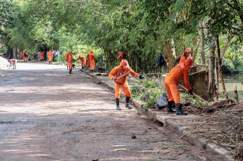 Equipes da Sesan vão percorrer todos os bairros com serviços de limpeza.