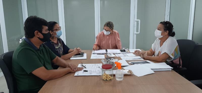 Reunião realizada entre Funbosque e Seduc