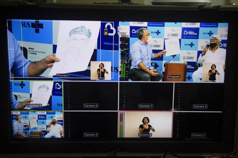 Live foi transmitida pelo instagram do prefeito Edmilson Rodrigues