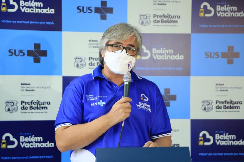 Cláudio Salgado (Vigilância em Saúde) confirma transmissão da nova cepa em Belém