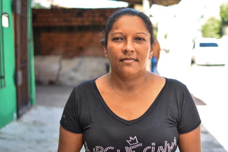 Dacirene Monteiro também perdeu a casa no incêndio do dia 13 de fevereiro