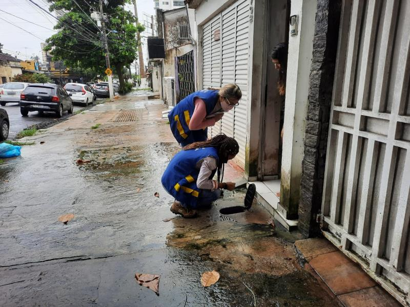 Equipe técnica da Arbel visita casa da usuária no bairro São Brás