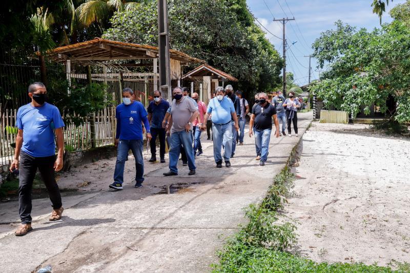 Levantamento em principais pontos da Ilha de Caratateua tem objetivo de executar serviços de melhoria em Outeiro