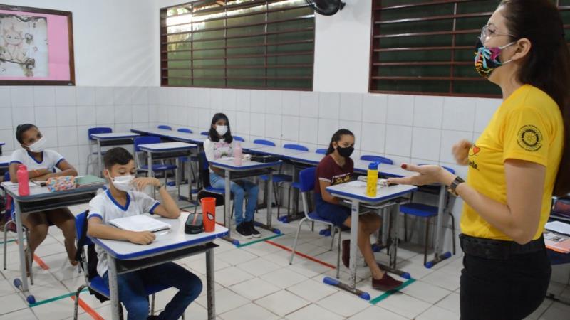 Aulas presenciais retornaram nesta quarta-feira, 13, em Paragominas