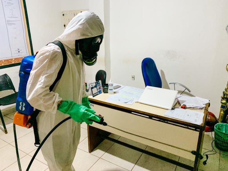 Ação visa evitar contaminação pelo novo coronavírus nos prédios públicos de Icoaraci