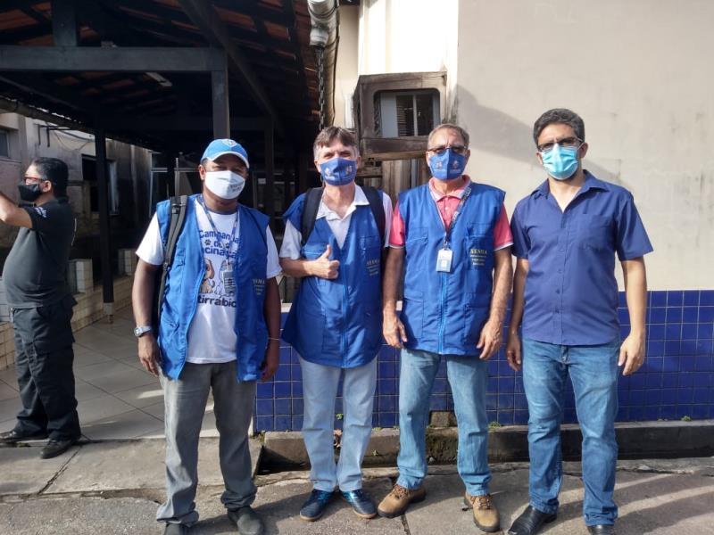 """Equipe do Centro de Zoonoses que participou da operação """"Pará PET""""."""