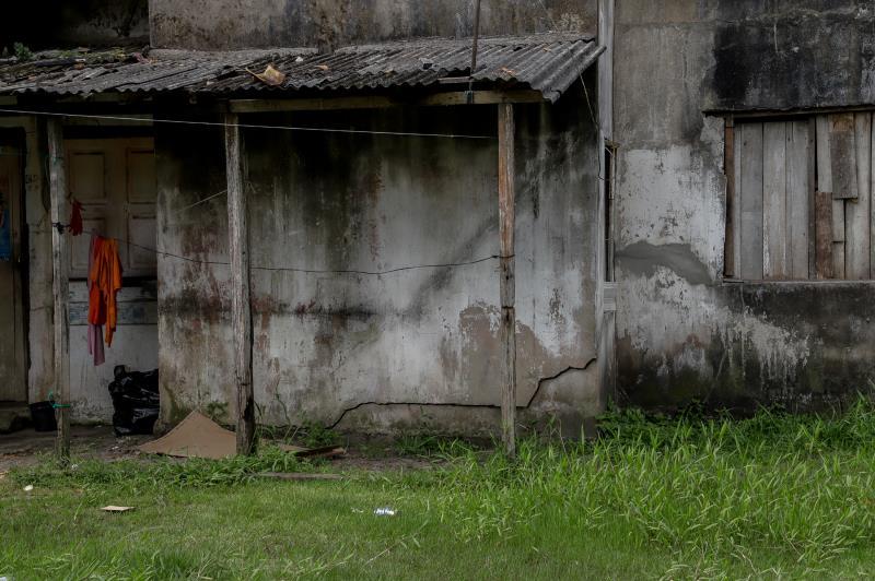 Vistoria técnica da Defesa Civil verificou a existência de possíveis danos nas estruturas e riscos para as famílias que vivem no local