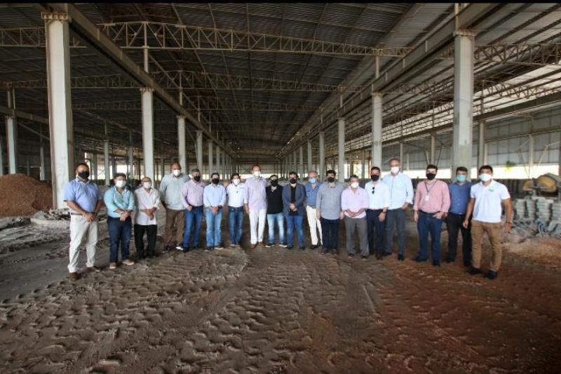 Comitiva do Na Fábrica visitando as futuras instalações da indústria Aço Pará no Polo Industrial de Barcarena (Crédito da Foto: Raquel Sanches)