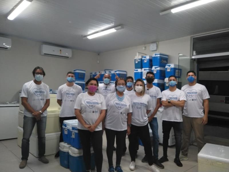 Equipes da Semec atuaram em parceria com a Sesma no acolhimento aos trabalhadores da educação.