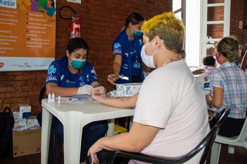 Juliano Bentes, mestre em artes, aproveitou os serviços para saber como anda sua saúde.