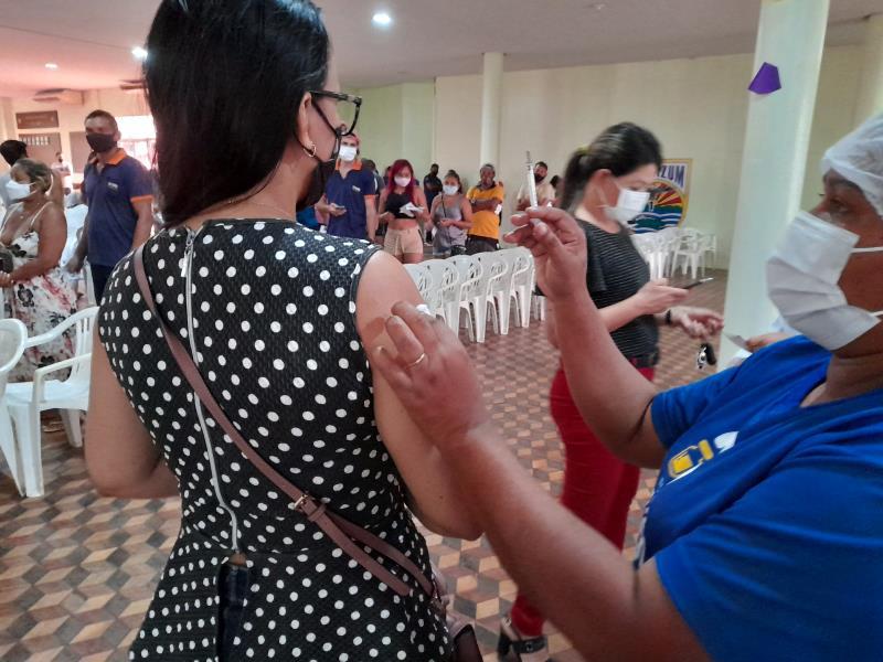 A vacinação foi marcada pela tranquilidade nos 23 locais disponibilizados pela prefeitura de Belém