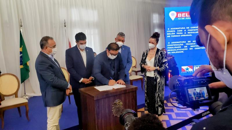 Cooperação técnica para reforma do cemitério da Soledade foi assinado pela PMB, Secult, Fumbel e Seurb