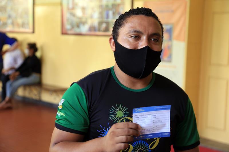 Wendel Cardoso Moraes gostou da tranquilidade do local de vacinação