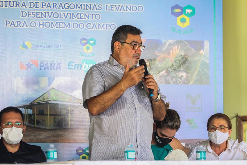 Prefeito Lucídio Paes no Seminário de Agricultura Familiar em Paragominas
