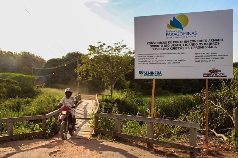 Ponte de concreto vai ligar os bairros Promissão 1 e JK