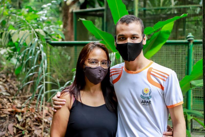 Rita e Gustavo Quaresma são integrantes da Apae e gostaram do projeto Portas Abertas