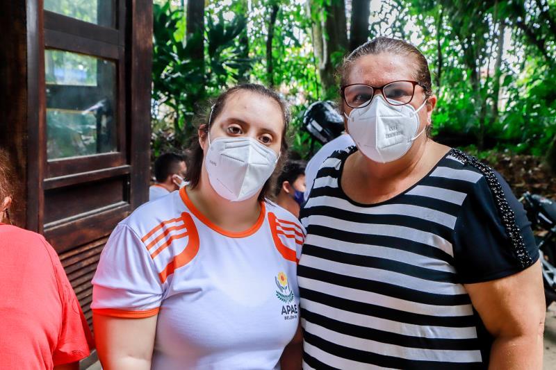 Márcia e Caroline Nóbrega participaram da programação inclusiva no Bosque Rodrigues Alves