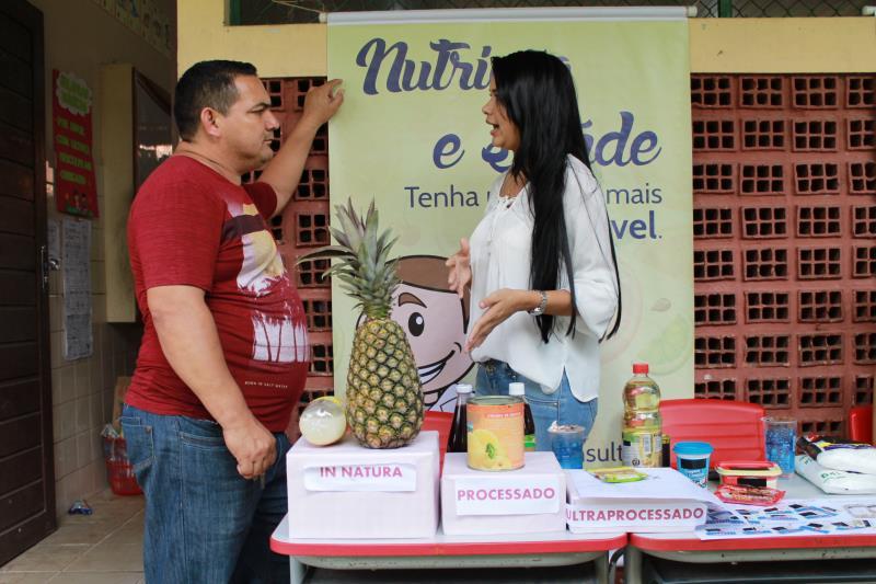 Alunos do curso de nutrição da Unama e da Fibra realizaram atendimentos, além de avaliação e orientação nutricional com classificação de alimentos