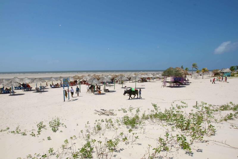 A Praia do Pesqueiro, em Soure, está entre as mais procuradas no Marajó