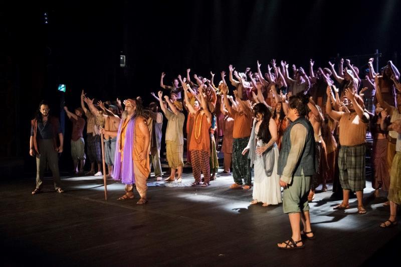 A récita foi para convidados e amigos e familiares dos envolvidos na produção da ópera. Entre eles, o grupo de estudantes de Redenção