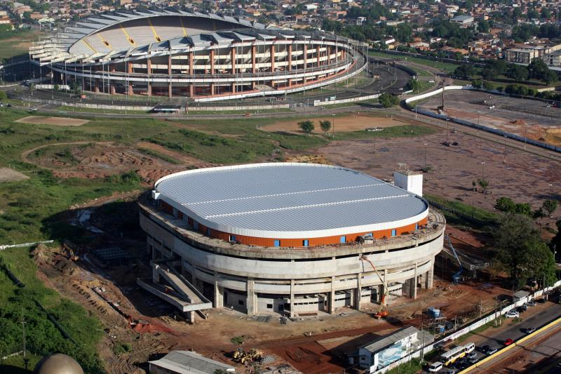 Erguido em uma área de aproximadamente 23 mil metros quadrados, o ginásio obedece a todas as especificações exigidas pelo Comitê Olímpico.