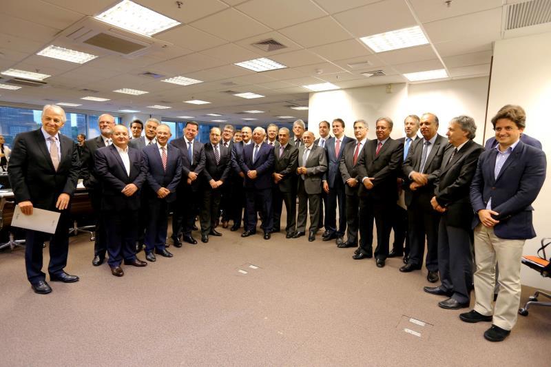 O Movimento Brasil Competitivo fez reunião de trabalho no World Trade Center, em São Paulo, entre lideranças do setor privado e 15 governadores
