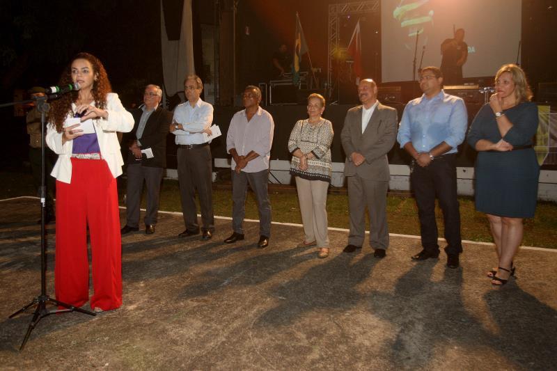 Isabela Jatene representou o governador na abertura do evento e ressaltou a força do projeto para a economia e identidade cultural do Estado.