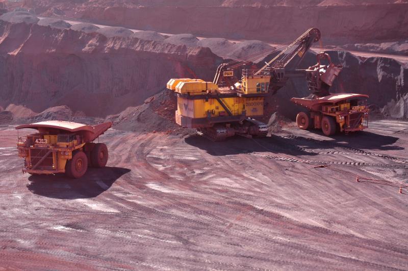 O ferro bruto, o cobre e a alumina calcinada foram os destaques entre os produtos minerais exportados nesse primeiro trimestre.